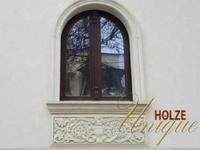 fereastra cu arcada din lemn stratificat de lux premium