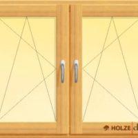 fereastra din lemn stratificat cu doua canate oscilobatante si stulp intermediar, imagine holze