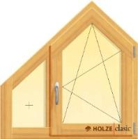 fereastra din lemn stratificat cu un canat fix si un canat oscilobatant tesite, imagine holze