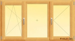 fereastra din lemn stratificat cu un canat fix unul batant si unul oscilobatant, imagine holze