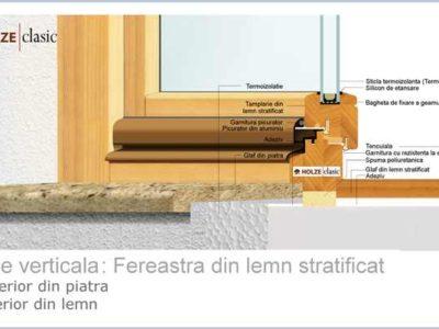 fereastra din lemn stratificat holze