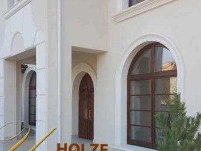 ferestre din lemn stratificat cu arcada