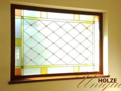 ferestre din lemn stratificat cu vitraliu