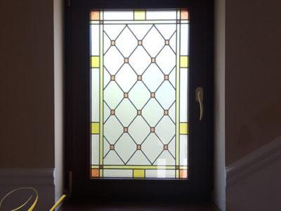 ferestre lemn stratificat cu vitraliu