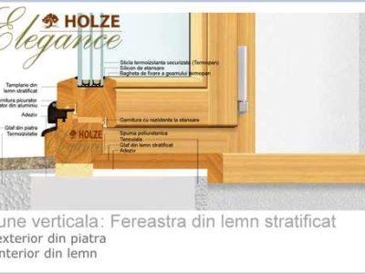 ferestre lemn stratificat, imagine profil 90