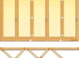 usa din lemn stratificat armonica cu cinci panouri pliante, imagine holze