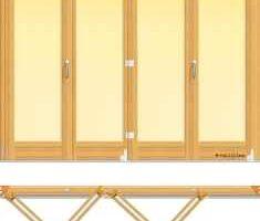 usa din lemn stratificat armonica cu patru panouri pliante, imagine holze