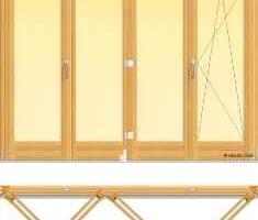 usa din lemn stratificat armonica cu trei panouri pliante si un canat oscilobatant, imagine holze