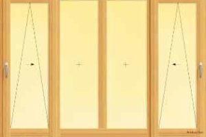 usa din lemn stratificat osciloculisanta cu doua canate fixe centrale, imagine holze