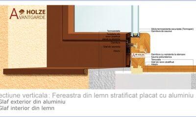 fereastra din lemn stratificat placata cu aluminiu, b68, bipan securizat, imagine 31