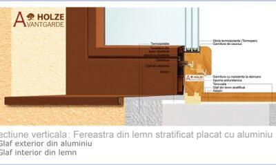 fereastra din lemn stratificat placata cu aluminiu, b71, tripan, imagine 12