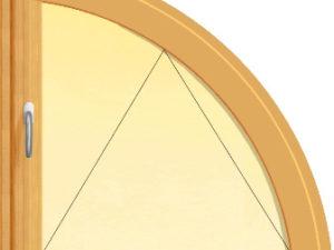 Fereastra in arc de cerc cu un canat oscilant
