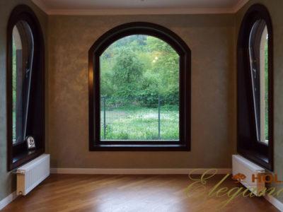 fereastre din lemn stratificat cu arcada, deschidere oscilobatanta, cu captuseala, holze elg, imagine 26
