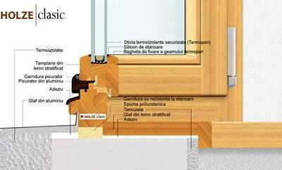 ferestre lemn stratificat, imagine holze clasic