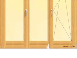 Usa armonica pentru exterior cu trei canate si geam termopan.