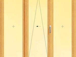 Usa din lemn stratificat culisanta pentru exterior cu trei panouri