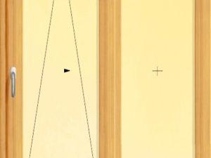 Usa culisanta din lemn stratificat pentru exterior cu doua panouri.