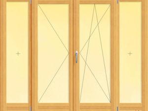 Usa dubla de balcon cu doua canate fixe laterale , imagine 4c