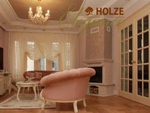 Usi interior albe din lemn
