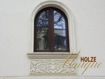 fereastra din lemn stratificat , geam termopan cu arcada , imagine 2020