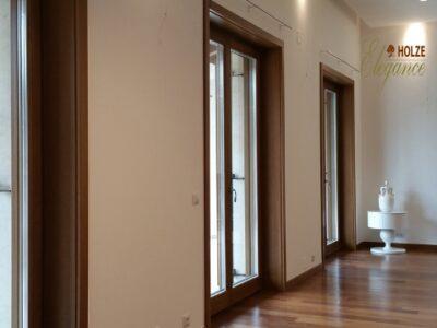 ferestre din lemn stratificat , stejar , stejar auriu , nuc , geam termopan tripan , imagine 1045
