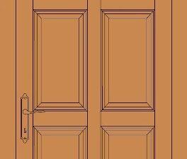 model de usa din lemn stratificat cu 6 tablii