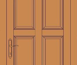 model de usa din lemn stratificat cu 8 tablii