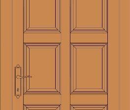 model de usa din lemn stratificat cu 9 tablii