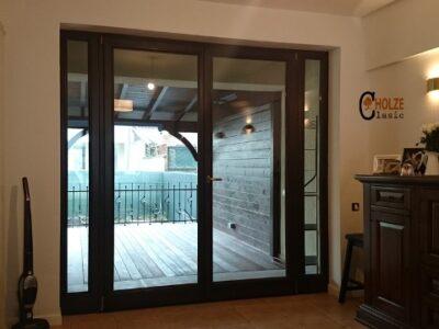 usi de terasa din lemn stratificat , cu geam termopan , imagine model 3020 holze clasic