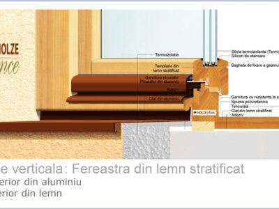 sectiune fereastra din lemn stratificat cu geam tripan imagine 71