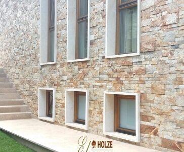 ferestre lemn stratificat cu geam termopan tripan , imagine model 1046