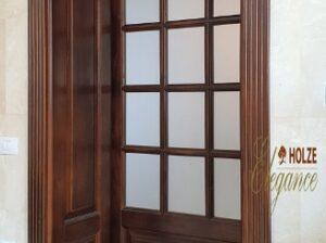 usa din lemn stratificat cu capiteliu si sticla , imagine model 1056