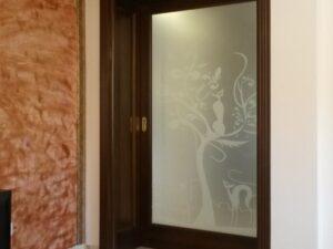 usa din lemn cu sticla , model model imagine 3080