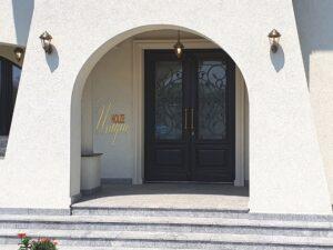 Usa din lemn stratificat pentru intrare in vila , imagine 2090